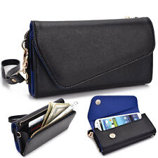 Fad Bicast Leather Protective Wallet Case Clutch Cover for Smart-Phones MLUB11