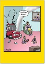 """NobleWorks 0136""""Daddys Home"""" Funny Father's Day Greeting Card"""