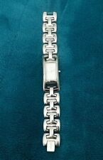 Ladies DKNY Watch Stainless Steel Rectangle Pearl Cream Donna Karen New York
