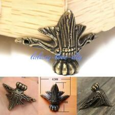 4x Antique Brass Jewelry Chest Wood Box Case Feet Leg Corner Protector Decor MA