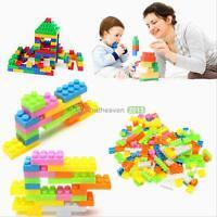144Pcs Plastic Puzzle Building Blocks Bricks Children Kids Educational Toy Gift