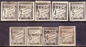 1892 OBOCK Yv 5-13 Timbres Taxe POSTAGE DUE MH set to 30c CV 377€