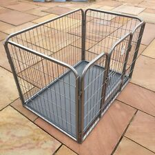 Heavy Duty Cozy Pet Puppy Playpen/Enclosure Dog Cage inc Floor New