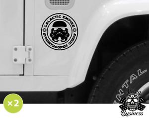 Star Wars Sticker x2 Galactic Empire Stormtrooper Corps Jedi Car Van Vinyl TWO!