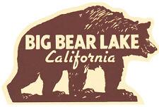 Big Bear Lake California   Vintage Looking  Sticker Decal Luggage Label