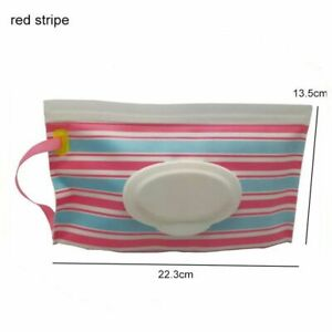 Tissue Box With Handle Portable Carry Case Wet Wipes Dispenser Holder Container