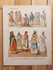 Asian Costume - 1882 - Fashion History, Original Print, chromolithograph Art