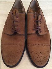 "NEW Authentic Bally ""Artimino"" Brown Suede Wingtip Oxfords US Sz 7.5 E Euro"