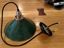 Reclaimed Vintage Industrial Cone/Military Style Metal Pendant Light.