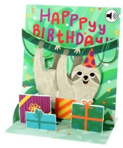 Sloth  -  SOUND CARD - 3D Pop-up Card  by Up With Paper