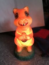 Vintage Squirrel Lamp Bank Chipmunk Advertising MCM Mid Century Works Rare