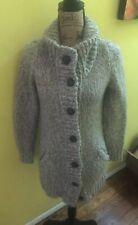 Madewell Wallace J CREW Womens M LONG Cardigan MOHAIR WOOL Knit Sweater Pockets
