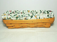 LONGABERGER 2000 Cracker Basket Combo  w Fabric Liner and Protector EUC