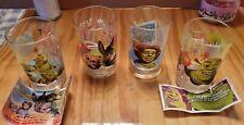Shrek the Third Set Of 4 Vintage Drinking Glasses Complete Set McDonald's 2007