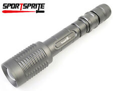 Trustfire CREE T6 5 MD1600 Lumen 18650 brightest Zoomable LED flashlight torch