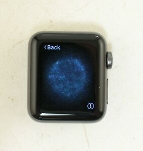 Apple Series 3 A1858 38mm Watch Aluminum GPS Only Space Gray; ABTS 489314