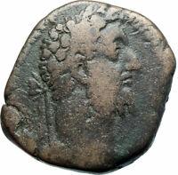 COMMODUS 189AD Sestertius Big Rome  Ancient Roman Coin Felicitas i79236