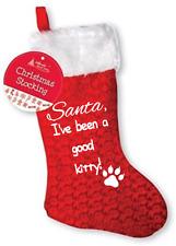 Pet Calze di Natale, paw print, CAT Babbo Natale sono stato un buon Kitty, ARTIGLI