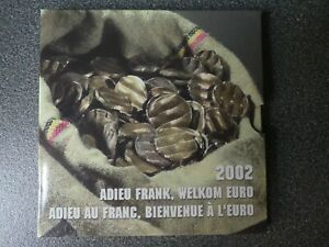 KMS Belgien 2002  -  Abschied vom Franc - original