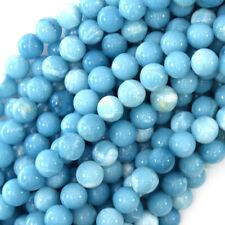 Blue Larimar Quartz Round Beads Gemstone 15.5