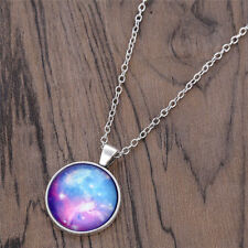 Girls Star Silver Cabochon Necklace Science Fantasy Boys Gift Jewelry Pendant