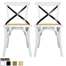 Set of 2 White Cross Back Chair X Back For Modern Wood Dining Chair Kitchen Desk