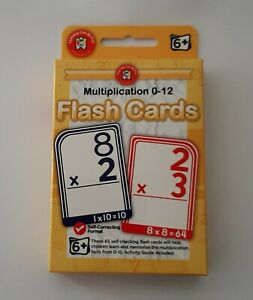 Educational Toys Card Kids Ages 6 + Game Multiplication 0-12 Learn Flash Cards