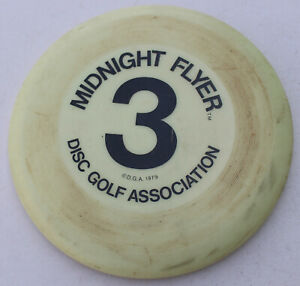 Vintage Rare Disc Golf Association Midnight Flyer Frisbee Wham-O 1979 Glow 3