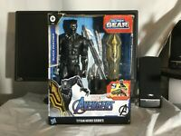 Marvel Avengers Titan Hero Series Blast Gear Deluxe Black Panther 12-Inch Figure