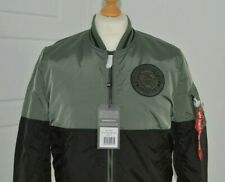 Alpha Industries MA-1 Block 60th-Anniversary Jacket VintageGreen Size M RRP £165