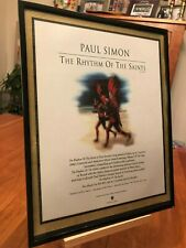 1 Big 11X14 Framed Paul Simon 1990's Solo Lp Album Cd Promo Ad - choose from 2!