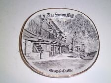 Vtg The Saxon Mill Guy's Cliffe  England Advertising porcelain Coin Pin Dish