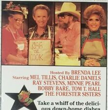 Cooking With Country Music Stars VHS 1987 Brenda Lee Mel Tillis Charlie Daniels