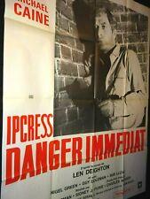IPCRESS DANGER IMMEDIAT michael caine  affiche cinema ressortie 70
