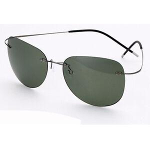 100% Titanium Silhouette sunglasses Polaroid super Light Brand Designer Rimless