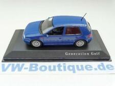 + VOLKSWAGEN VW Golf 4 von Minichamps in 1:43  * blau *  NEU