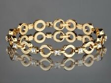 Bracelet plaqué or jaune avec des pierres (YVES CAMANI)