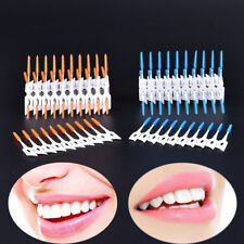 80pcs Silicone Dental Floss Cleaning Brush Teeth Elastic Massage Bar Adults  Ee