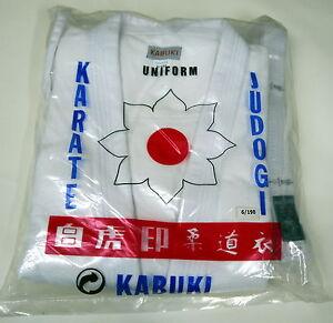 Kabuki Judo Gi Suit Uniform All Sizes White With White Belt Included