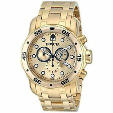 Gold Plated Band Men's Wristwatches with Chronograph