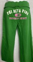 Victoria's Secret PINK Capri Sweatpants Size XS Green/White/Pink Cotton Pants