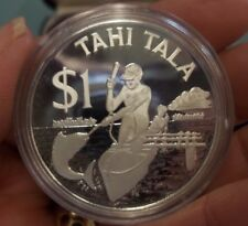 1982 TOKELAU TAHI TALA $1.00 SILVER PROOF COIN THE OUTRIGGER SINGAPORE MINT COA