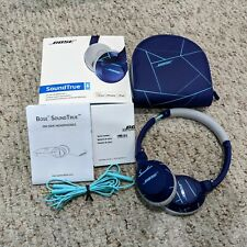 BOSE SoundTrue Wired On-Ear Headphones Purple-Mint w/Box, Carrying Case, Cable