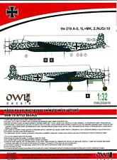 Owl Decals 1/32 HEINKEL He-219A-0 Night Fighter 2./NJGr.10