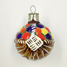 "Christmas Ornament ""Mushroom basket Multi-colored №2"" vintage Decoration USSR"