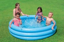 Intex 58446 Kinderpool Planschbecken Pool 3-Ring-Pool Crystal Blau Ø168 x 38 cm