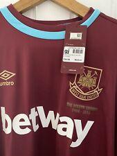 West Ham United 2016/17 Home Shirt BNWT -Size Medium Men's