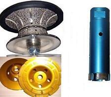 """V40 1 1/2"""" Full Bullnose Router Core Drill Bit 2"""" Granite Concrete Coarse Cup"""