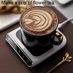 Electric Cup Heating Coaster Warmer Coffee Tea Milk Mug Beverage Heater Mat UK