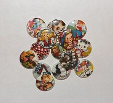 "Retro Children and Animals 1"" pinback Buttons.(set of 20)"